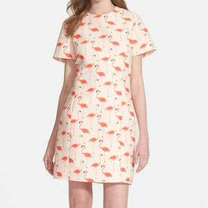 Kate Spade Pink Flamingo Sheath Dress Size 2